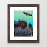 'ICE CUBE'S A PIMP!' (Teal Sky) Framed Art Print