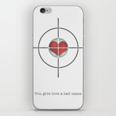 Shot Through The Heart iPhone & iPod Skin
