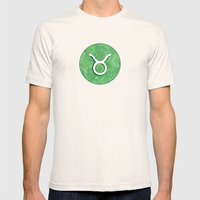 Zodiac Sign : Taurus Mens Fitted Tee Natural SMALL