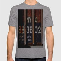 NYC 88 36 02 Mens Fitted Tee Athletic Grey SMALL