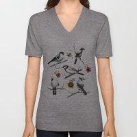 BIRDS & FLOWERS Unisex V-Neck