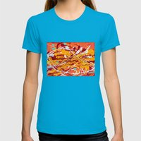 Mango Tango Womens Fitted Tee Teal SMALL