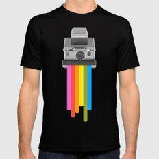 Taste the Rainbow Mens Fitted Tee Black SMALL