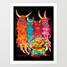 PAKKU-MAN Art Print
