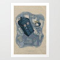 Art Print featuring Falling by Karen Hallion Illustrations
