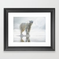 Is anyone out there? Framed Art Print