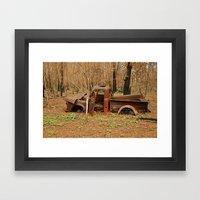 Lost Truck Framed Art Print