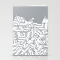 Abstract Mountain Grey Stationery Cards