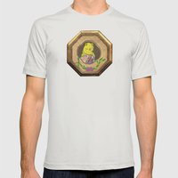 Banana Creme Pie Panda Mens Fitted Tee Silver SMALL