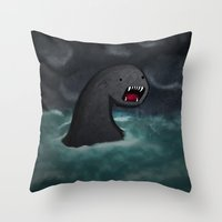 Mar Beast Throw Pillow