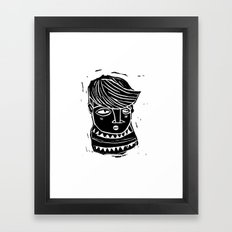 timide Framed Art Print