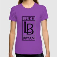 Luke Bryan Rolls Royce Symbol Womens Fitted Tee Ultraviolet SMALL