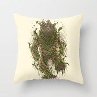 Treebear Throw Pillow