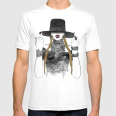 Creole Queen Bey SMALL Mens Fitted Tee White