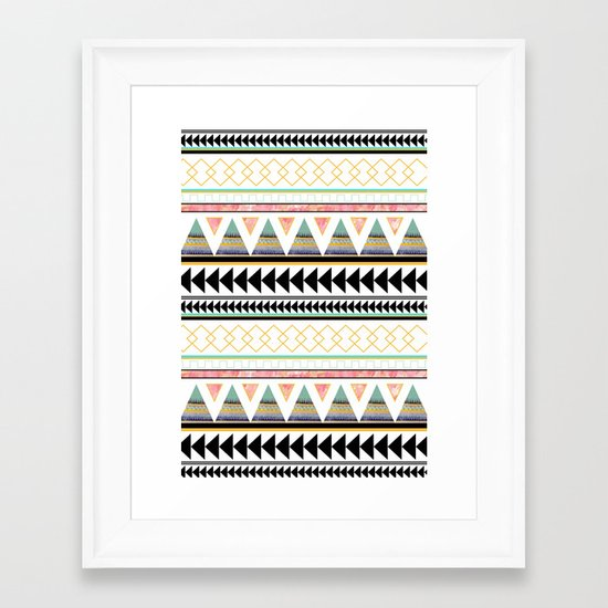 Aztec 3 Framed Art Print
