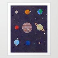 The 9 Planets! Art Print