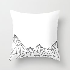 Night Court Mountain Design Throw Pillow