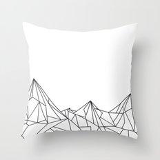 Night Court Mountain Design Throw Pillow