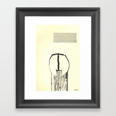 spilled Framed Art Print