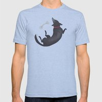 Happy Dog Mens Fitted Tee Athletic Blue SMALL
