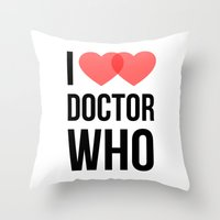 I ♥♥ Doctor Who Throw Pillow