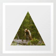 Log Bear Art Print