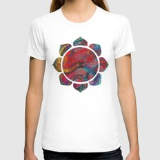 Chinese Dragon  Womens Fitted Tee White SMALL