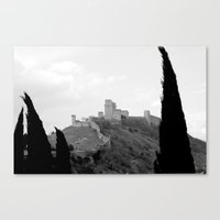 Assisi in the winter Canvas Print