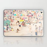 Beach Crowd Laptop & iPad Skin