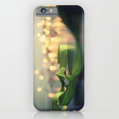 christmas ribbon bokeh iPhone 6 Slim Case