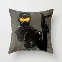 Marvel Fan Art AGENT X Throw Pillow