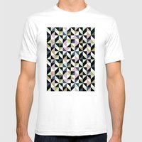 Geometric Pattern 01 Mens Fitted Tee White SMALL