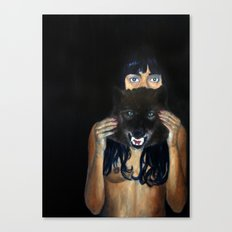 She was never very good at keeping a straight face Canvas Print