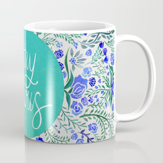 Stay Curious – Navy & Turquoise Mug