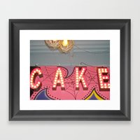 Cake ~ Pop Carnival Sign… Framed Art Print