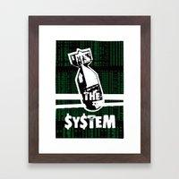 Bomb the System Framed Art Print