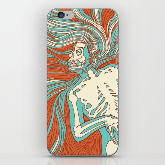 Skeleton Girl iPhone & iPod Skin