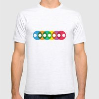 Geometric bubbles Mens Fitted Tee Ash Grey SMALL