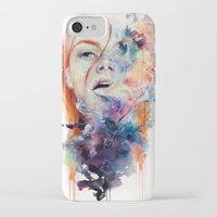 smoke iPhone & iPod Cases featuring this thing called art is really dangerous by agnes-cecile