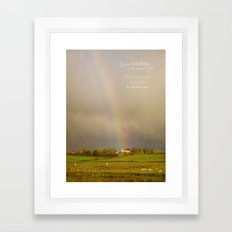 Be the Rainbow Framed Art Print