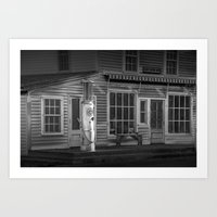 Black And White Of Red C… Art Print