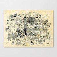 Grotesque Flora And Faun… Canvas Print