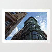 Street Corner//Boston MA Art Print