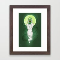 Girl of the Lagoon Framed Art Print