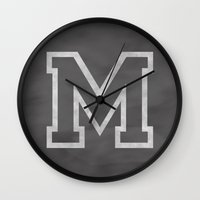 Letter M Wall Clock