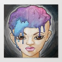 Submersion In The Cosmos Canvas Print