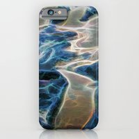 Abstract rock pool and sand on a beach in Queensland iPhone 6 Slim Case