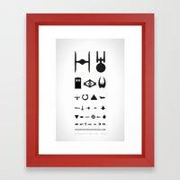 STARSHIPS OPTICAL TEST Framed Art Print