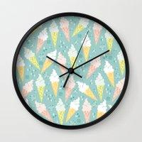 Ice Cream Cones Wall Clock