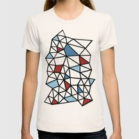 Segment Red And Blue Womens Fitted Tee Natural SMALL